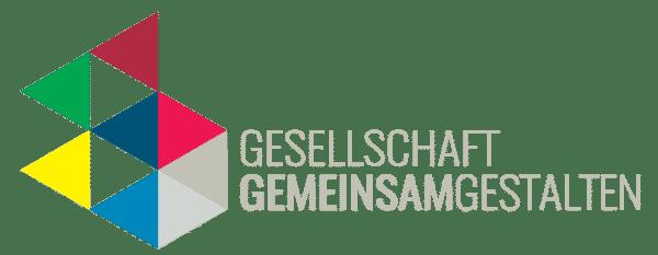 Das Logo von Gesellschaft gemeinsam gestalten - Partizipation von Geflüchteten und Unterstützer_innen im Netz stärken ist ein Projekt von Minor - Projektkontor für Bildung und Forschung.